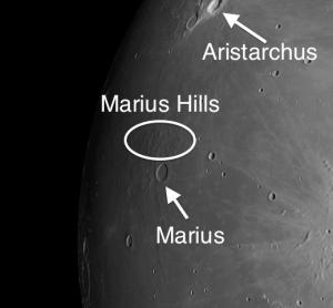 Marius Hills on the moon