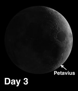 Petavius is one of the most fascinating craters on the Moon. It is an example of a floor-fractured crater.