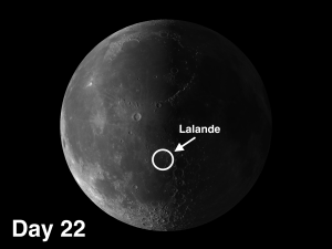 Lalande A crater on the moon