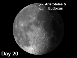 moon craters Aristoteles and Eudoxus