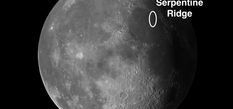 Serpentine Ridge: The Moon's Best Example of a Wrinkle Ridge