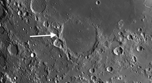 Two Significant Areas on the Moon and the Geminid Meteor Shower