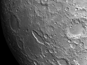 Schiller has an unusually elongated crater