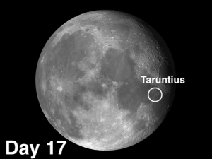 Taruntius is a wonderful example of a floor-fractured crater (FFC)