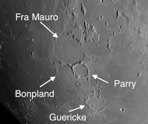 Craters in the Fra Mauro region