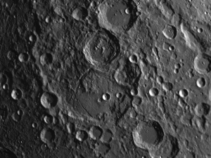 Janssen is a textbook example of how new craters are superimposed on top of older craters