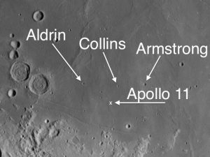 Apollo 11 landing site on the moon