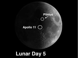 crater Plinius and the Apollo 11 site