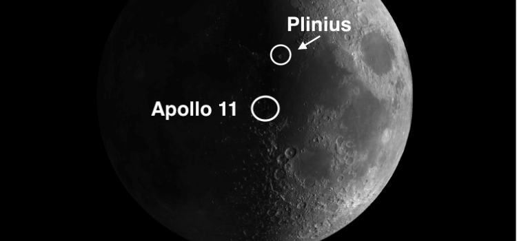 Moon Crater Plinius and the Apollo 11 Landing Site
