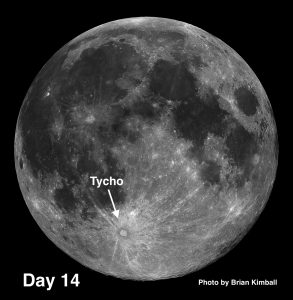 moon crater Tycho