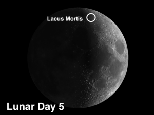Lacus Mortis (the Lake of Death) moon crater