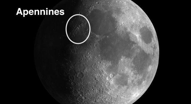 Apennine Mountain Range: The Most Spectacular Feature on the Moon