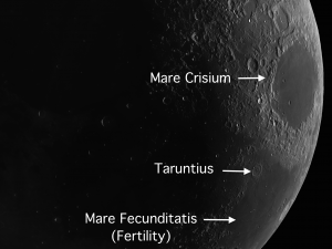 Taruntius Floor Fractured crater on the moon