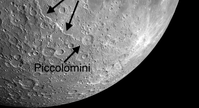 Piccolomini: A Beautiful and Complex Moon Crater
