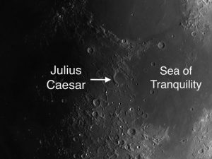 Julius Caesar moon crater