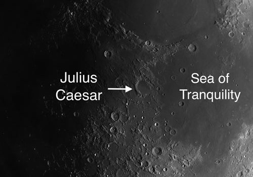 Julius Caesar on the Moon