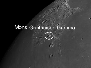 Gruithuisen Gamma second largest dome on the moon Andrew Planck