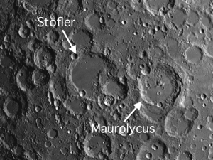 Moon crater Stöfler