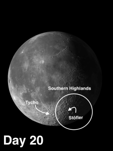 Southern Highlands on the moon