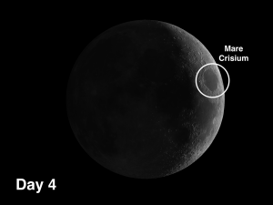 Mare Crisium resulted from the impact of a large meteor 3.9 billion years ago. The event was energetic enough to leave a multi-ring imprint.