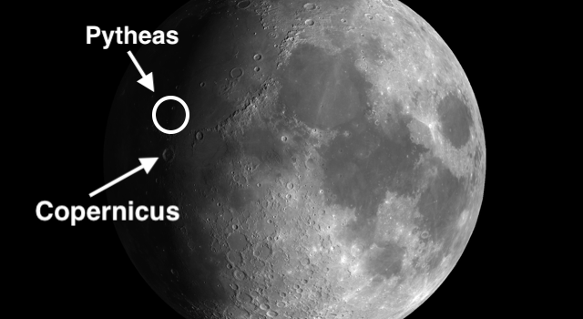 Pytheas Secondary Moon Craters and the Moon Crater Copernicus