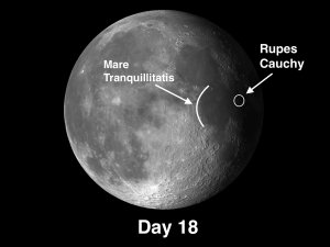 One of the best-known faults on the Moon is Rupes Cauchy.