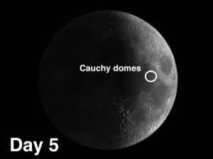 cauchy domes on moon
