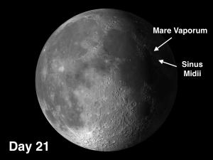 Mare Vaporum and Sinus Medii on the moon