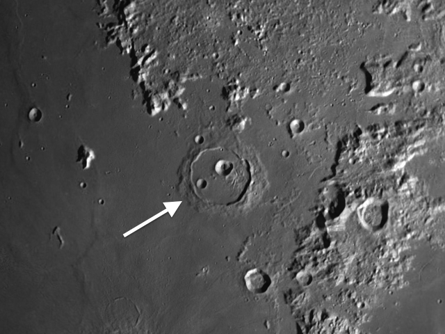 moon crater Cassini