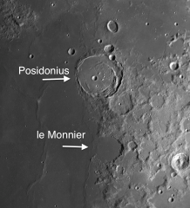 Moon Craters Posidonius and le Monnier: Two Craters of Consequence on Mare Serenitatis