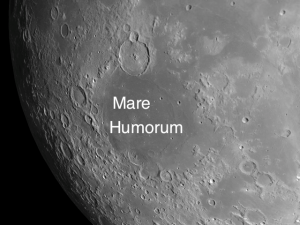 The Humorum basin is one of the best examples of subsidence that you can see on the Moon