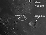 A Wide Shallow Valley and Lunar Dome on the Moon