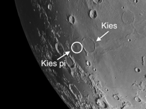 Kies on the moon