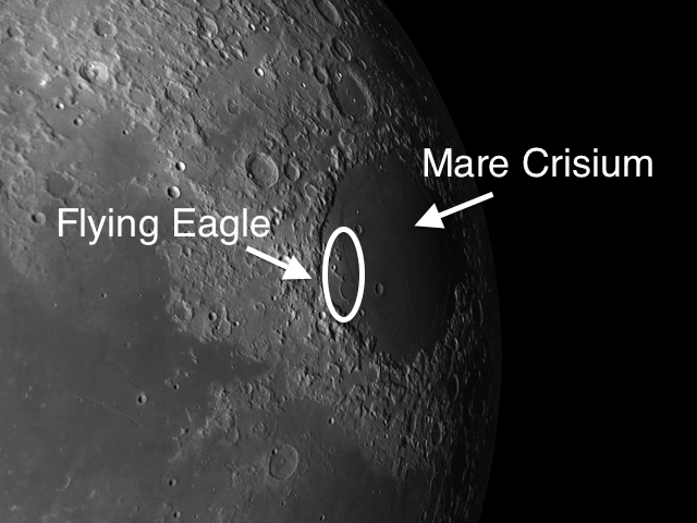 Mare Crisium and The Flying Eagle on the Moon