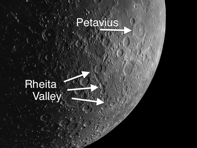 Rheita Valley is the longest distinct valley on the Moon