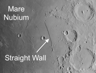 Straight Wall Rupes Recta on the moon