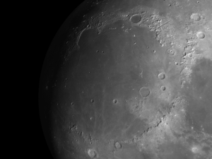 Mare Imbrium the Imbrium basin was created 3.9 billion years ago when an asteroid 60 miles in diameter slammed into the Moon at 10 miles per second and blasted out a 720-mile-wide crater