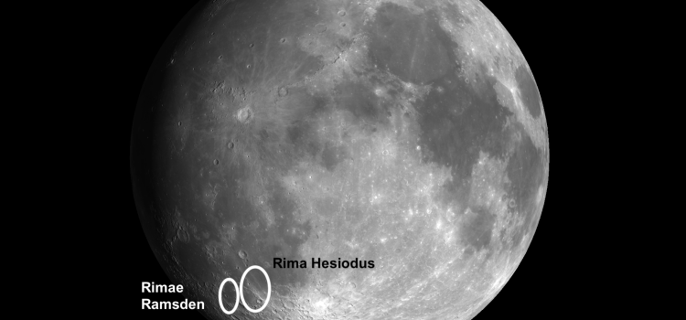 Rilles on the Moon: Rima Hesiodus and Rimae Ramsden