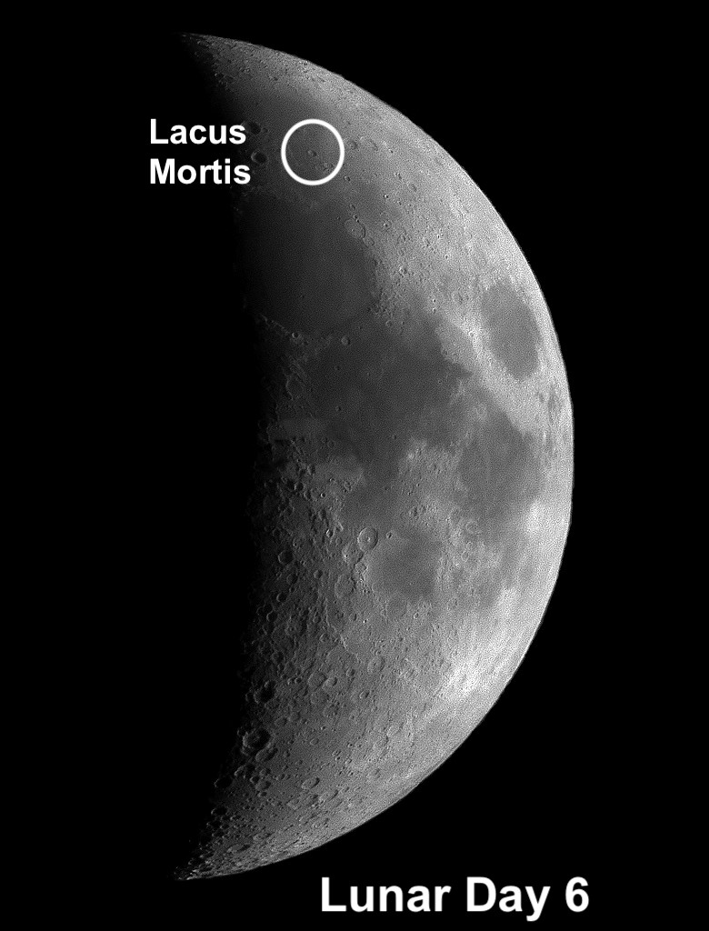 At more than four billion years, Lacus Mortis is one of the oldest impact features on the Moon.