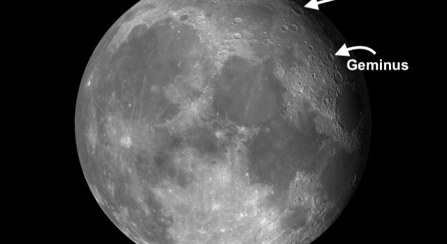 Moon Craters Endymion and Geminus