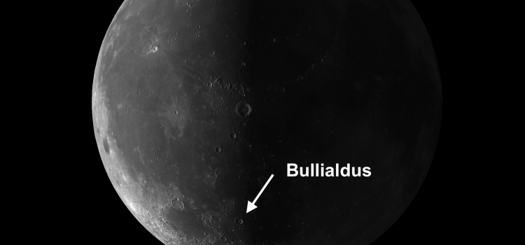 Moon Crater Bullialdus: Most Conspicuous Crater on Mare Nubium