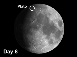 Moon crater Plato