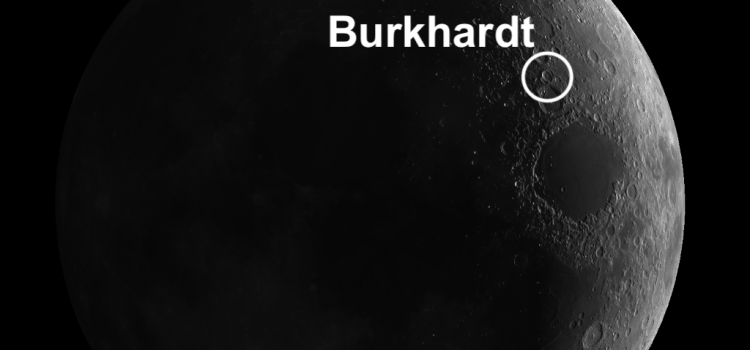 """Burckhardt: Moon Crater with the """"Mickey Mouse Ears"""""""