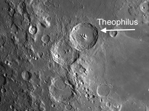 moon crater Theophilus