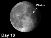 Moon crater Plinius