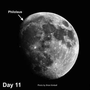 moon crater Philolaus
