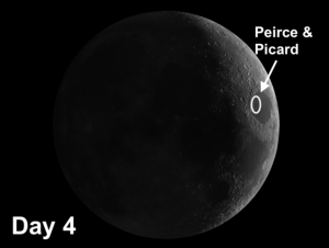 moon craters Peirce and Picard