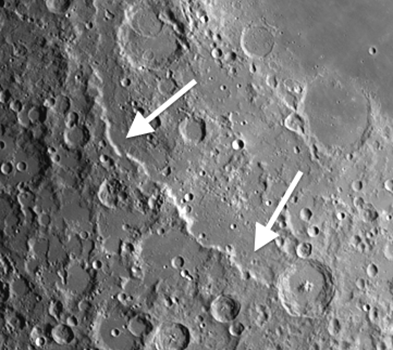 Moon Craters Piccolomini and Altai Scarp