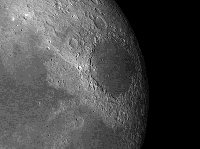 Moon Crater Mare Crisium and Multi-Ring Imprint