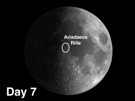 Ariadaeus Rille on the moon
